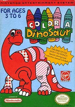Color A Dinosaur играть онлайн