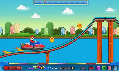 Mario jetski racing играть онлайн