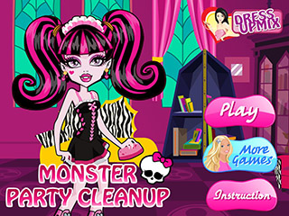 Monster party cleanup играть онлайн