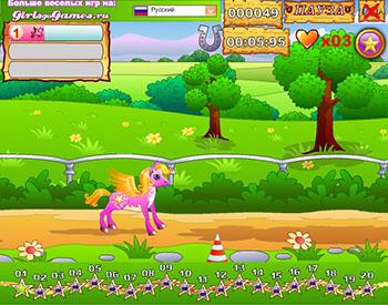 Пони гонки играть онлайн