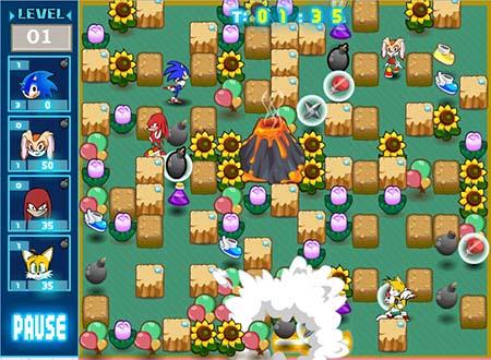 Sonic bomberman играть онлайн