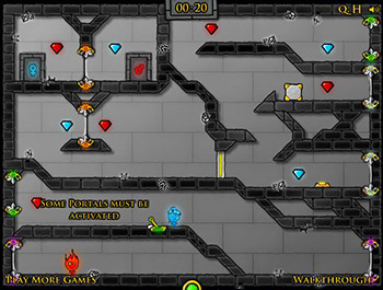 Огонь и Вода 4: в Хрустальном Храме играть онлайн
