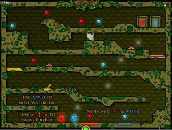 Огонь и Вода 1: в Лесном Храме играть онлайн