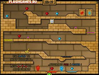 Огонь и Вода 2: в Храме Света играть онлайн